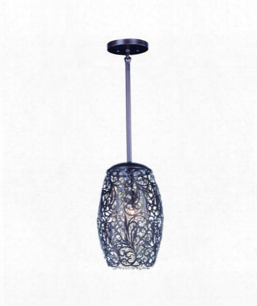 """Arabesque 7"""" 1 Llight Mini Pendant In Oil Rubbed Bronze"""