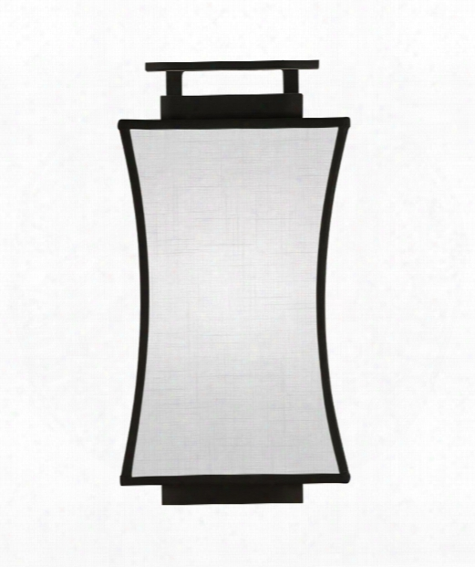 "Black And White Story 7"" 1 Light Wall Sconce In Black Satin Lacquer"