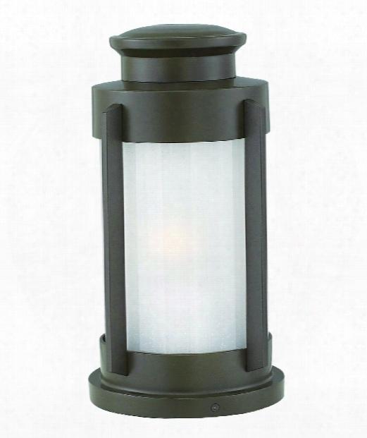 Briggs 9&uqot; 1 Light Outdoor Outdoor Pier Lamp In Buckeye Bronze