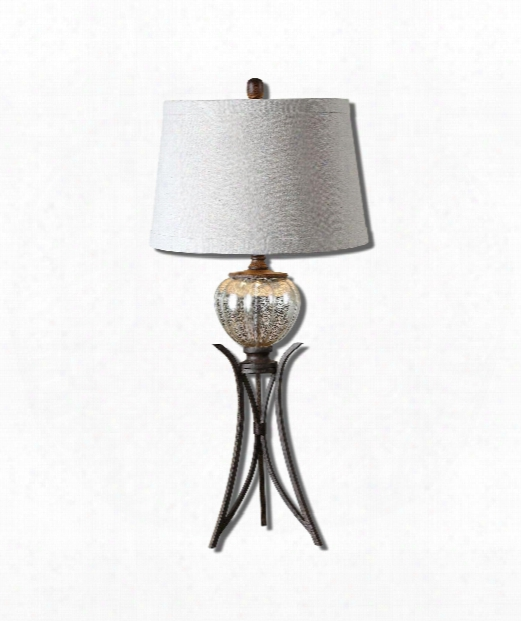 "Cebrario 16"" 1 Light Table Lamp In Burnished Rustic Bronze"