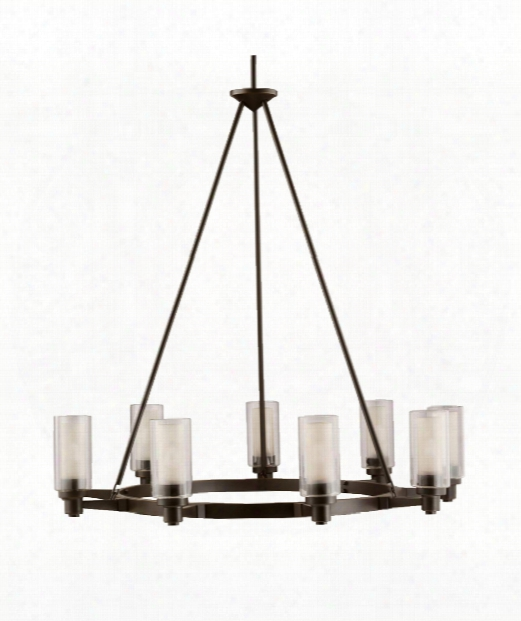 "Circolo 36"" 9 Light Chandelier In Olde Bronze"