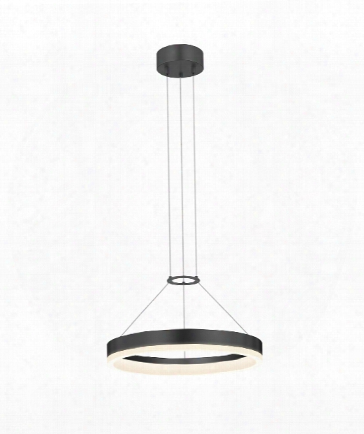 "Corona 16"" Led Large Pendant In Satin Black"