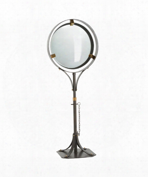 """Darcy 25"""" Floor Mirror In Natural Iron-polished Brass"""