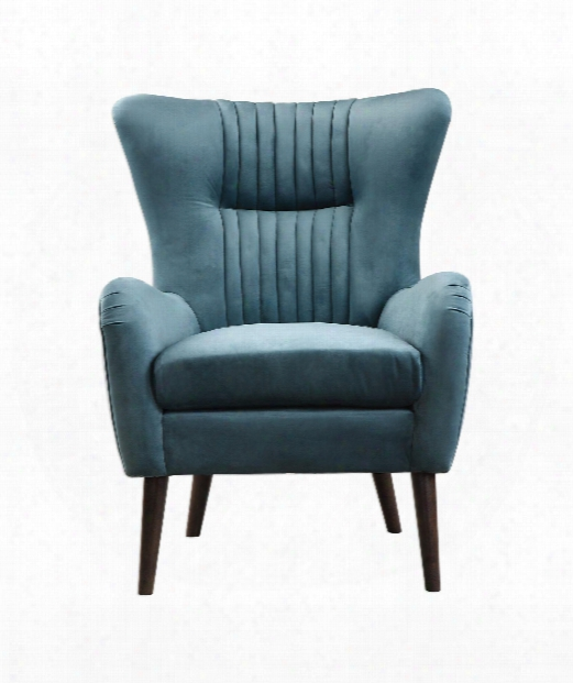 "Dax 29"" Arm Chair In Teal Blue-rich Espresso"
