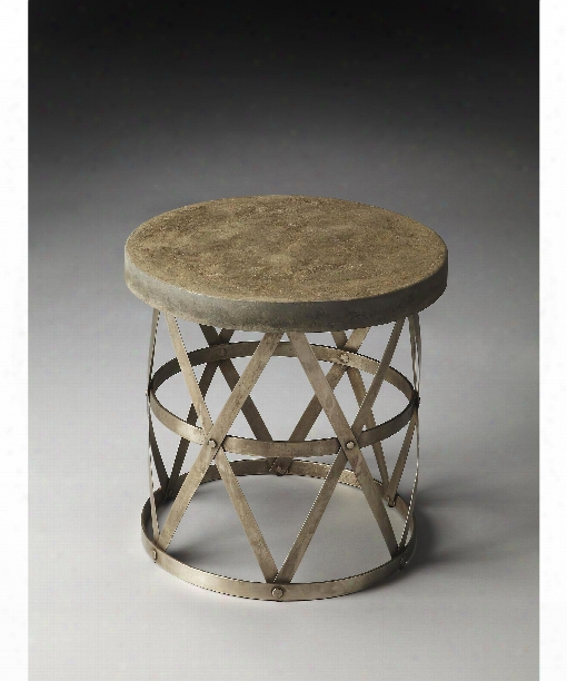 "Dobson 18"" Accent Table In Metalworks"