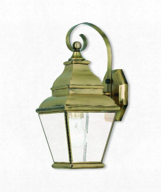 "Exeter 7"" 1 Light Outdoor Outdoor Wall Light In Antique Brass"