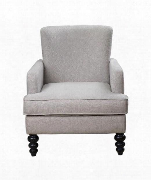 """Flannan 30"""" Arm Chair In Antique White-antique Brass Nail Head"""