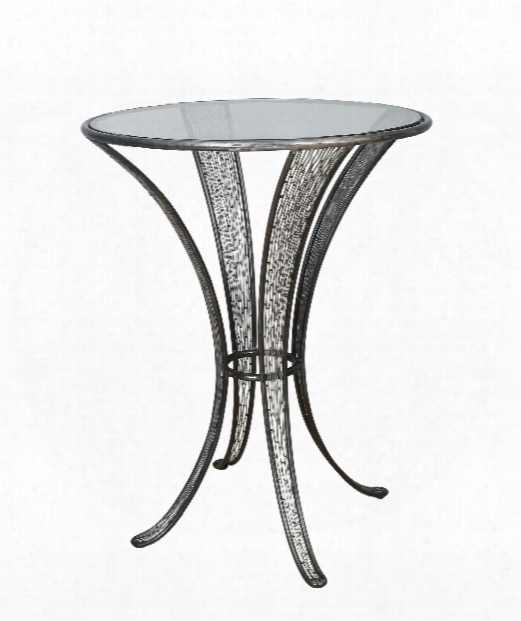 "Flow 30"" Accent Table In Steel"