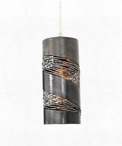 """Flow 4"""" 1 Light Mini Pendant In Steel"""