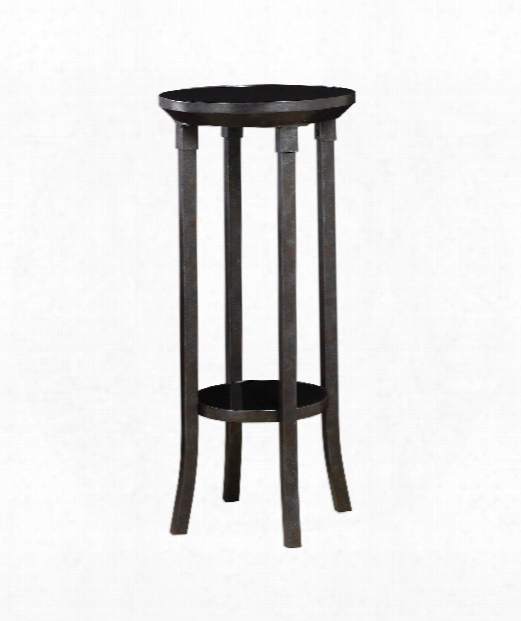 "Gurani 16"" Pedestal In Industrial Steel With Rust-black"