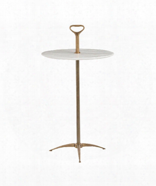 """Harper 15"""" Accent Table In Vintage Brass"""