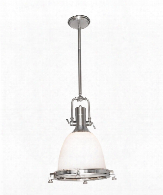"Hi-bay 14"" 1 Light Mini Pendant In Satin Nickel"