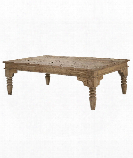 "Khristian 60"" Coffee Table In Elm Wood"