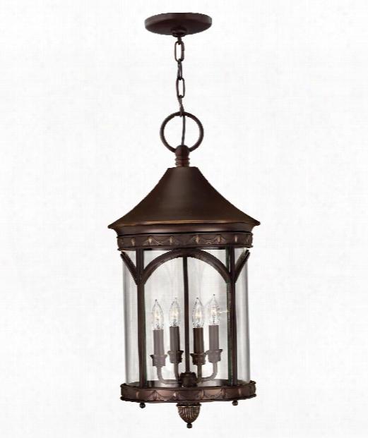 """Lucerne 13"""" Led 1 Light Outdoor Hanging Lantern In Copper Bronze"""