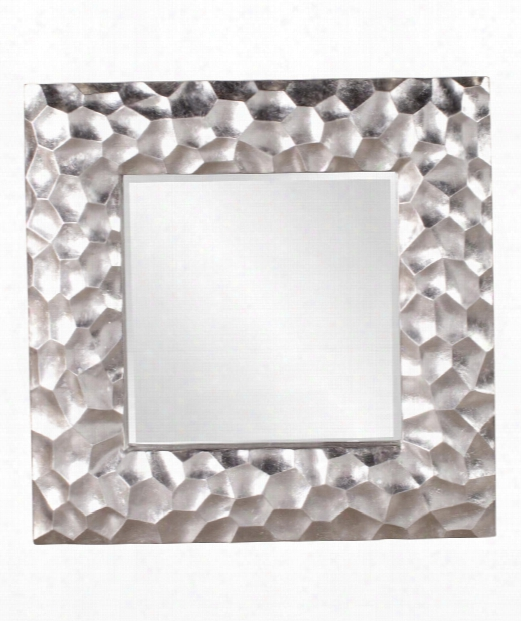 "Marley 39"" Wall Mirror In Silver Leaf"