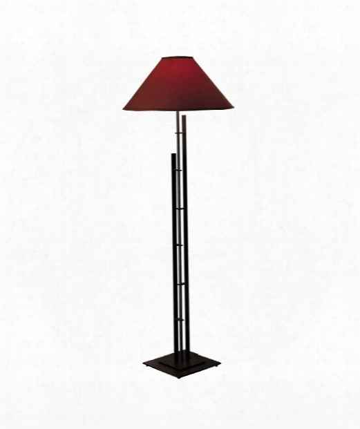 Metra Double 1 Light Floor Lamp In Vintage Platinum