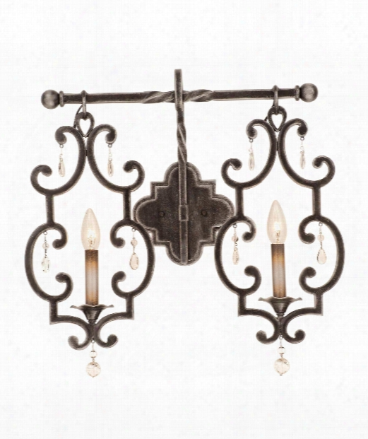 """Montgomery 21"""" 2 Light Wall Sconce In Vintage Iron"""