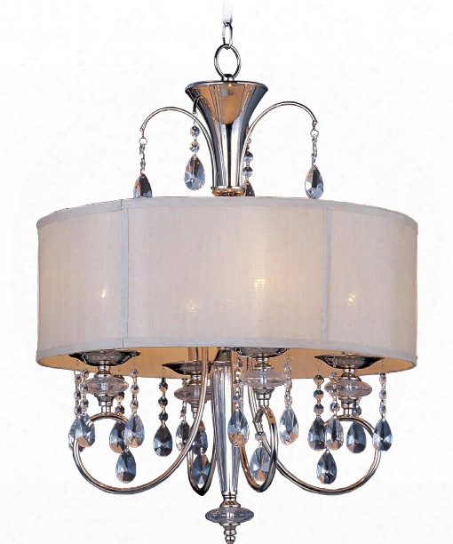 "Montgomery 22"" 4 Light Large Pendant In Polished Nickel"