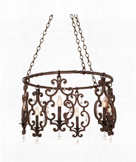 Montgomery 6 Light Mini Chandelier In Antique Copper