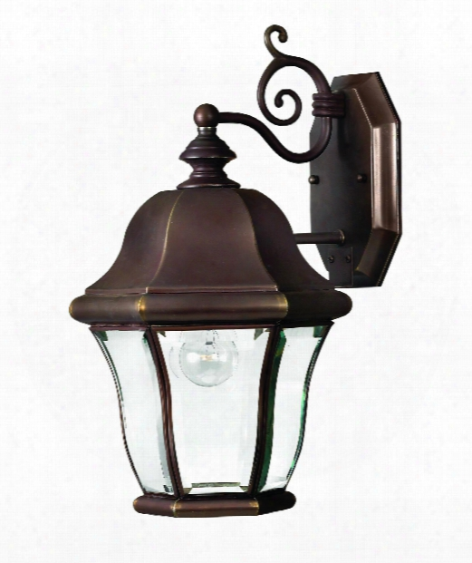 "Monticello 9"" 1 Light Outdoor Outdoor Wall Light In Copper Bronze"