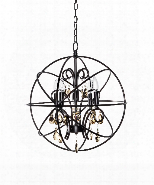 "Orbit 19"" 4 Light Mini Chandelier In Oil Rubbed Bronze"