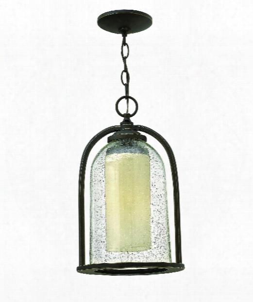 """Quincy 9"""" 1 Light Outdoor Outdoor Hanging Lantern In Oil Rubbed Bronze"""