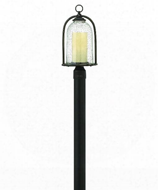 """Quincy 9"""" 1 Light Outdoor Outdoor Post Lamp In Oil Rubbed Bronze"""