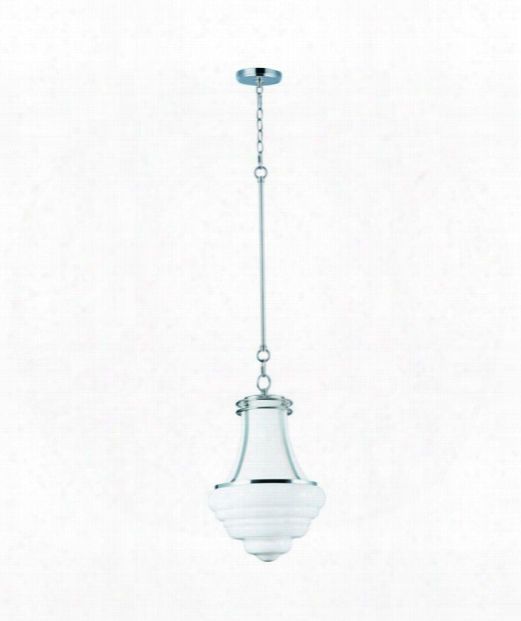 "Retro 19"" 4 Light Large Pendant In Polished Nickel"
