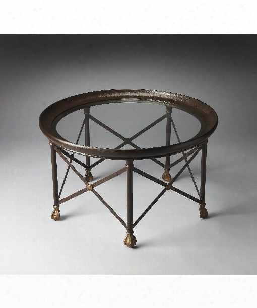 "Richton 36"" Coffee Table In Metalworks"