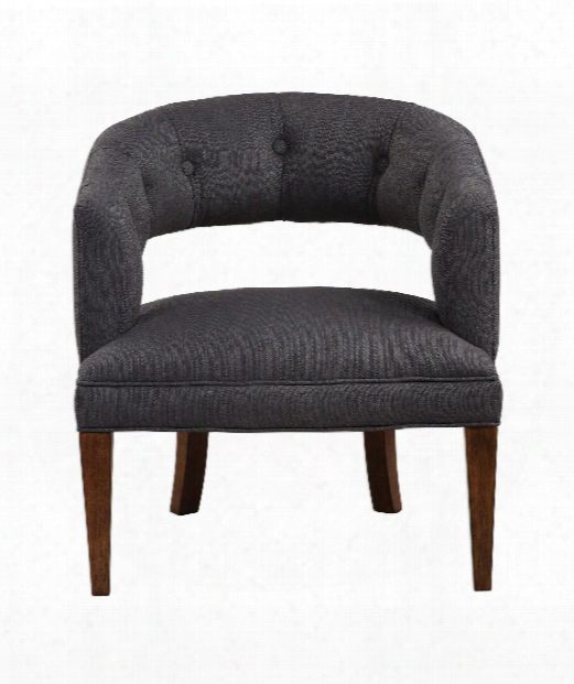 """Ridley 29"""" Occasional Chair In Charcoal-dark Walnut"""