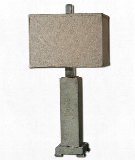 """Risto 10"""" 1 Light Table Lamp In Brushed Aluminum"""