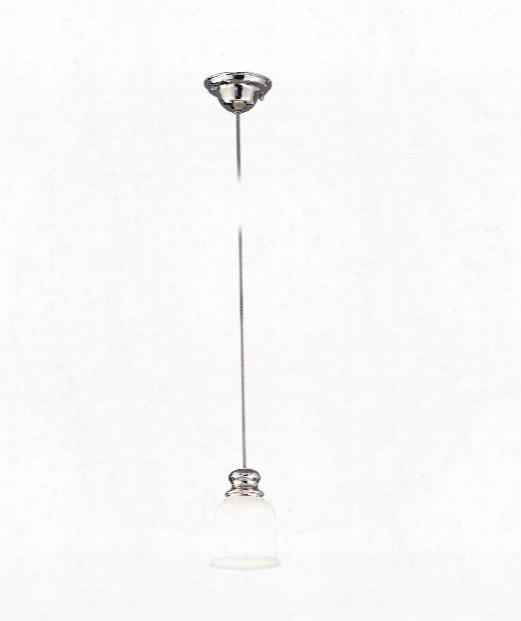 "Riverton 5"" 1 Light Mini Pendant In Polished Nickel"