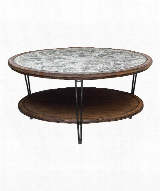 """Saskia 44"""" Coffee Table In Fruitwood-aged Ivory And Gray-haired"""