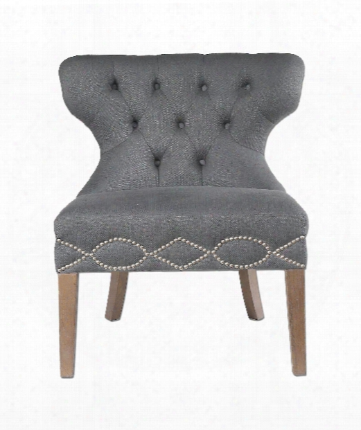 "Shafira 30"" Occasional Chair In Walnut"