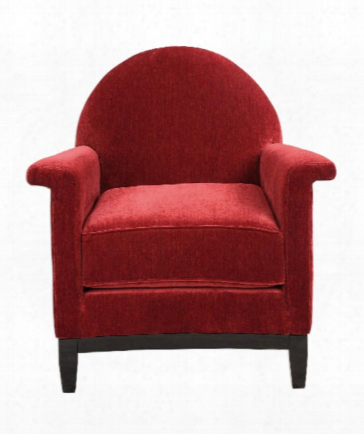 "Sheelah 32"" Occasional Chair In Deep Cherry Red-ebony"