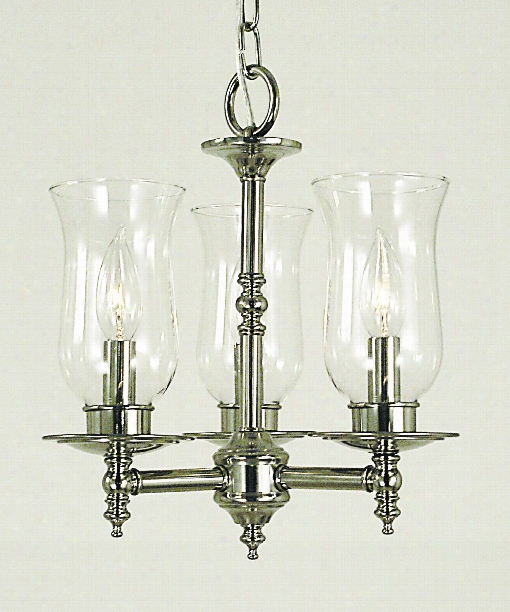 "Sheraton 13"" 3 Light Mini Chandelier In Brushed Nickel"