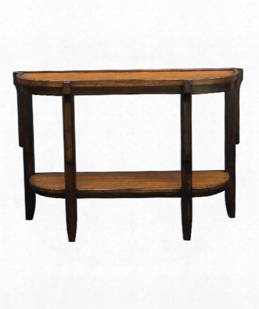 """Sigmon 47"""" Console Table In Hand Rubbed Black-warm Honey"""
