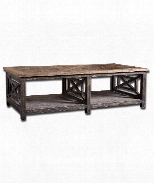 "Spiro 56"" Coffee Table In Brushed Black"