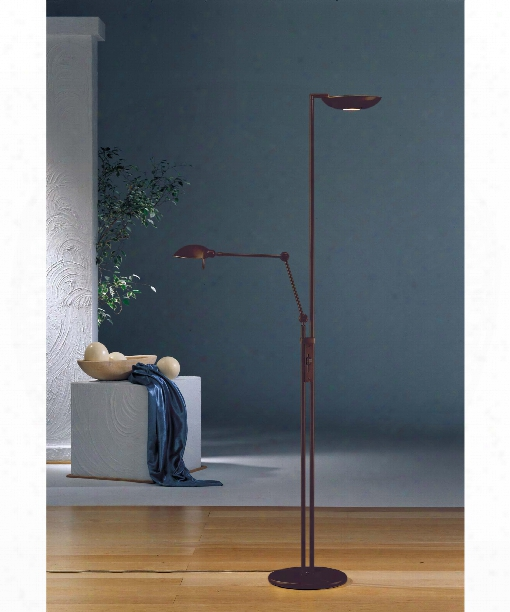 """The Ultimate Lighting Machine 12"""" 6 Light Torchiere Lamp In Hand Brushed Old Bronze"""