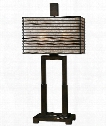 "Becton 14"" 2 Light Table Lamp in Oil Rubbed Bronze"