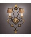 "Castile 17"" 2 Light Wall Sconce in Antiqued Gold Leaf"