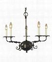 """Jamestown 26"""" 5 Light Chandelier in Antique Brass"""