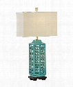 Khai -Turquoise 1 Light Table Lamp in Turquoise