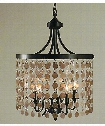 "Naomi 17"" 5 Light Large Pendant in Antique Brass"