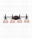 "Seymour 32"" 4 Light Bath Vanity Light in Oiled Bronze"