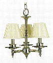 "Sheraton 14"" 3 Light Mini Chandelier in Antique Brass"