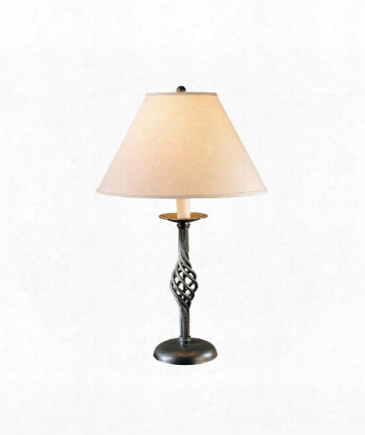 "Twist Basket 15"" 1 Light Table Lamp In Vintage Platinum"