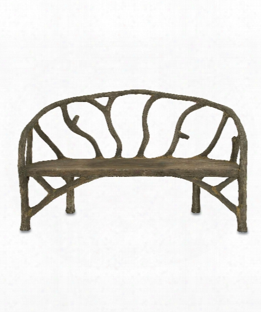 "Arbor 61"" Bench In Faux Bois"
