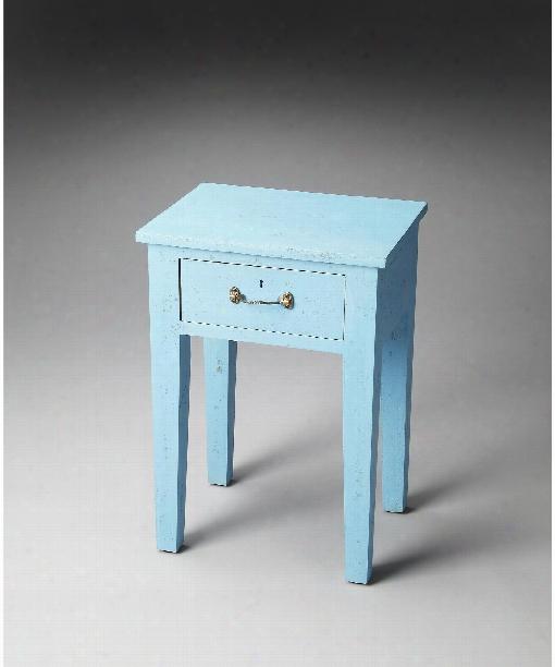 "Avignon 16"" End Table In Blue"