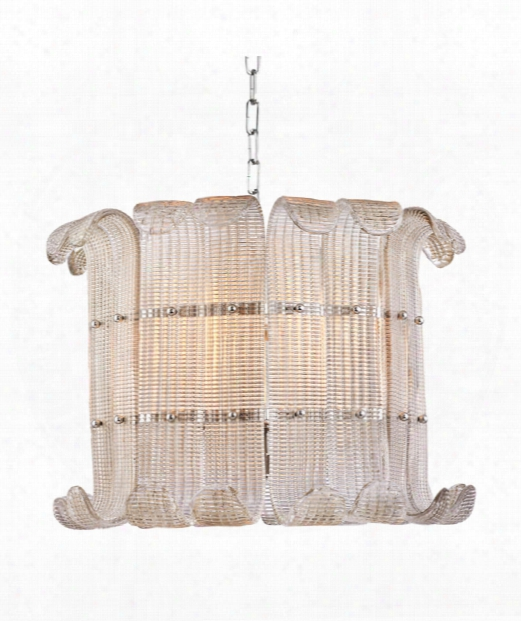 "Brasher 23"" 8 Light Large Pendant In Polished Nickel"